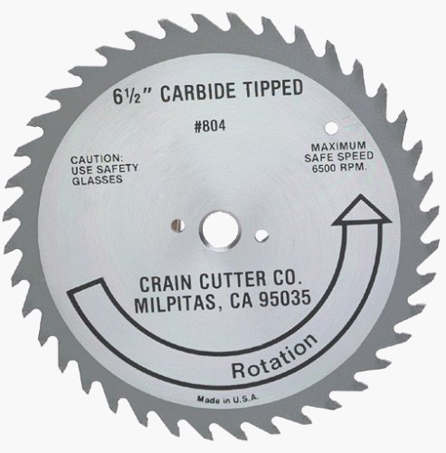 Crain Cutter 804 6-1/2-Inch 40 Tooth Wood Saw Blade with 5/8-Inch Arbor for 810 SuperSaw (Wood Flooring Saw compare prices)