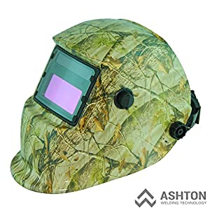 Commercial 115v Mig 130 135 Amp Automatic Feed Flux Core Gasless Welder Mig-135aw camouflage model Helmet AWT-FC1 Kit from ASHTON WELDING TECHNOLOGY