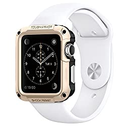 Spigen Apple Watch (SERIES 1) Case/cover   (APPLE WATCH NOT INCLUDED) (42mm) (BIGGER VERSION) Tough Armor (Champagne Gold) SGP11502