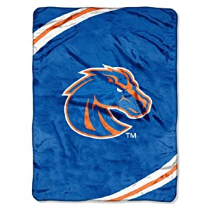 NCAA Boise State Broncos Force Royal Plush Raschel Throw Blanket, 60x80-Inch by Northwest