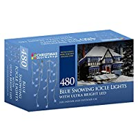 Christmas Workshop 87850 480 LED Snowing Icicle Lights - Bright White by Benross Group