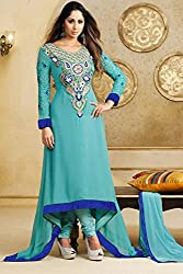Georgette Heavy Embroidery semi-stitched salwar suit set Savera 9210