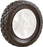 Shepherd Hardware 9613 8-Inch Semi-Pneumatic Rubber Replacement Tire, Plastic Wheel, 1-3/4-Inch Diamond Tread