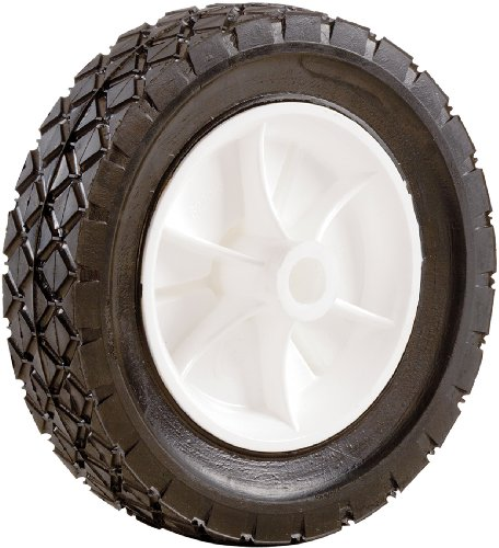 Shepherd 9611 7-Inch X 1-1/2-Inch Plastic Hub Semi-Pneumatic Rubber Diamond Tread Replacement Wheel With 1/2-Inch Bore