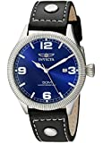 Invicta Men's 1459 Vintage Collection Riveted Leather Strap Blue Dial Watch