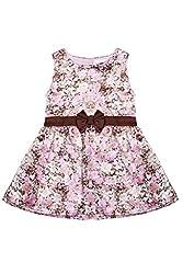 Soul Fairy Girls' Dress (CHRDRSSTN16B_Brown_3-4 Years)