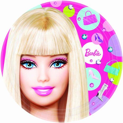 Imagen de Todas las Barbie Doll Amscan? D Up 9 Placa de papel