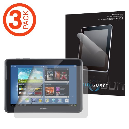 MiniGuard Samsung Galaxy Note 10.1 Inch Tablet N8000 N8010 Screen Protector (Matte Anti-Glare, 3 Pack), S-Pen Compatible