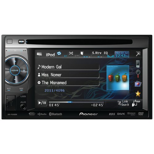 """Pioneer AVH-P3400BH 2-DIN Multimedia DVD Receiver with 5.8"""" Widescreen Touch Panel Display, Built-In Bluetooth®, and HD Radio"""