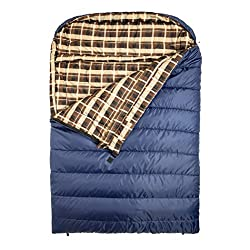"TETON Sports Mammoth Queen Size Flannel Lined Sleeping Bag (94""x 62"")"