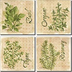 Decorative Kitchen X Tiles With Herbs