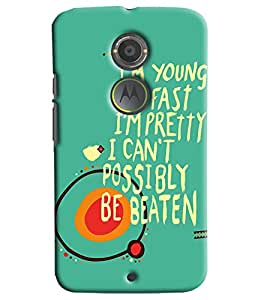 Blue Throat Motivational Quote Hard Plastic Printed Back Cover/Case For Moto X2