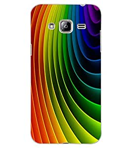 ColourCraft Colourful Pattern Design Back Case Cover for SAMSUNG GALAXY J3 (2016)