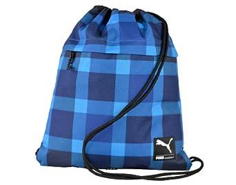 "Puma Men's Foundation Gym Sack H16""(appr)x L13""(appr) Brilli blue-Mazar Blue-Check"