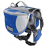 Fuloon Dog Backpack Strong Design Compact Nylon Lead Included - Best Waterproof Breathable Saddle bag