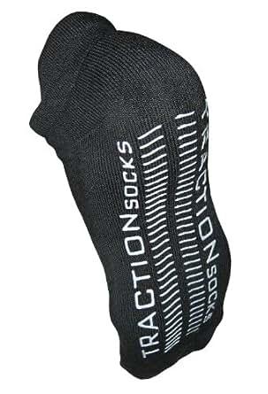 TractionSocks® Non-Slip Organic Cotton Socks (Small)Black