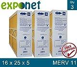 M1-1056 GENUINE ORIGINAL 16x25x5 (Actual Size: 15-3/8 X 25-1/2 X 5-1/4) MERV 11 GOODMAN, ELECTRO-AIR, FIVE SEASONS, CARRIER 16X25 MEDIA FILTERS CASE OF 3, PRIME OEM PRODUCT.