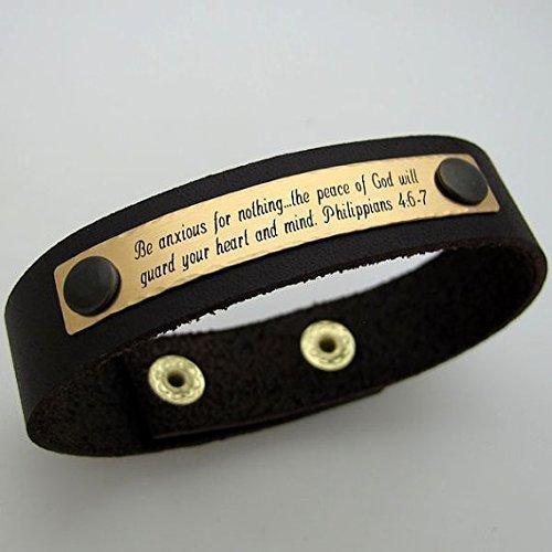 Personalized-Bracelet-for-Men-Custom-Engraved-Leather-Bracelet-Mens-Jewelry-Mens-Bracelet-Mens-Gift-Anniversary-gift-Groomsmen-gift-Leather-wristband