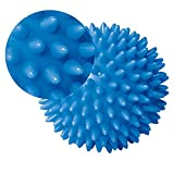 KaLaiXing Massage Ball Hard Stress Ball 8.0 cm for Fitness Sport Exercise.Yoga Gym Fitness Sport Exercise.Autism Therapy--blue