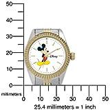 Disney Women's D110S776 Mickey Mouse Two-Tone Bracelet Watch