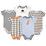 Luvable FriendsCotton Bodysuit, 5 Pack, Fox, 18-24 Months