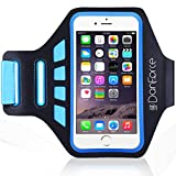 iPhone 6 /6s Plus, Samsung Note 5/4, SPORTS armband - Great for Running, Cycling, Workouts or any Fitness Activity , Sweat Proof - Build in Key + Id + Credit Cards by DanForce (Blue)