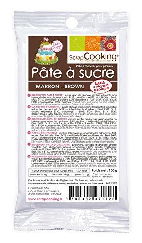 Pâte à sucre marron 100 g