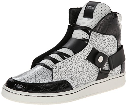 Just Cavalli Men's Cracked-Leather High-Top Fashion Sneaker Just Cavalli B00NAWGEUU