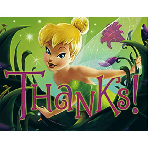 Disney's Tinker Bell Thank You Note 8 Pack - 1