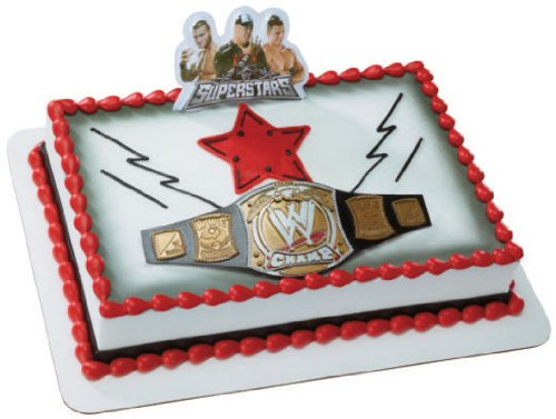 WWE Championship Belt DecoSet Cake Decoration - 1