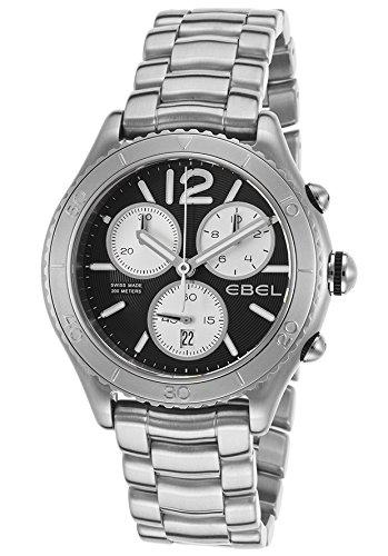 Ebel X-1 Reloj de hombre cuarzo suizo 43mm cronógrafo correa y caja de acero dial negro 1216120