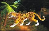 Colored Wood Craft Construction Kit 3D Puzzle - Tiger (57 Pieces) by Puzzled