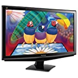 Viewsonics VA2448M-LED 24-Inch Widescreen LED Monitor - Black