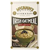 McCANN'S Steel Cut Irish Oatmeal, Quick & Easy, 16-Ounce Boxes (Pack of 6) ~ McCann's
