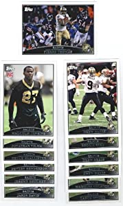 2009 Topps New Orleans Saints Complete Team Set (13 Cards) by Topps