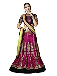 Touch Trends Wine Embroidered Lehenga Choli