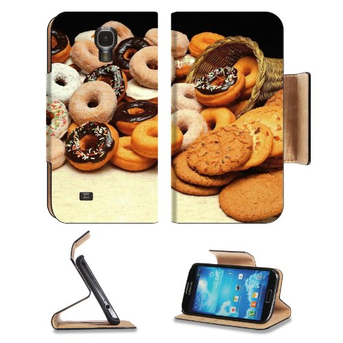 Food Cookies Donuts Muffins Baskets Samsung Galaxy S4 Flip Cover Case With Card Holder Customized Made To Order Support Ready Premium Deluxe Pu Leather 5 Inch (140Mm) X 3 1/4 Inch (80Mm) X 9/16 Inch (14Mm) Liil S Iv S 4 Professional Cases Accessories Open