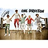 "One Direction Photo Poster Signed PP x5 Niall Horan, Harry Styles, Zayn, Louis, Liam 12x8"" Perfect Giftby One Direction"