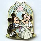 Disney Pin 47557: Mickey Mouse and Minnie Mouse - Wedding Bride Groom