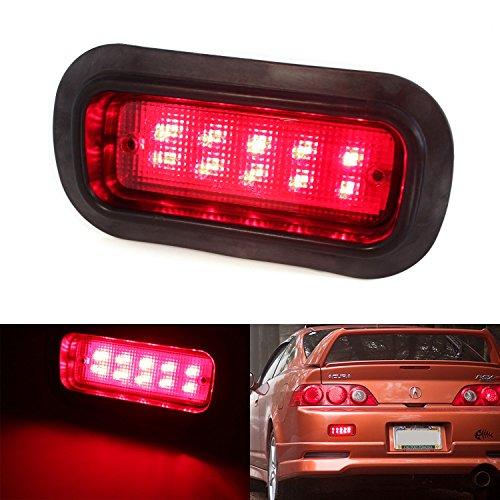 iJDMTOY JDM UKDM Style Red Lens 10-LED Rear Fog Light Assy For Honda Civic Del Sol S2000 Acura Integra RSX, etc