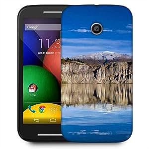 Snoogg River And Mountain Designer Protective Phone Back Case Cover For Motorola E / Moto E