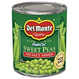 Del Monte Canned Fresh Cut Sweet Peas, No Salt Added, 8.5-Ounce Cans (Pack of 12)