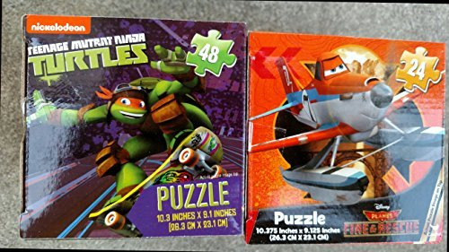Licensed Characters 24 Pieces Boxed Puzzle (Assorted, Designs & Quantities Vary) Disney Planes, Teeage Mutant Turtles, etc.)