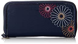 Travelon Safe Id Daisy Ladies Wallet, Navy, One Size