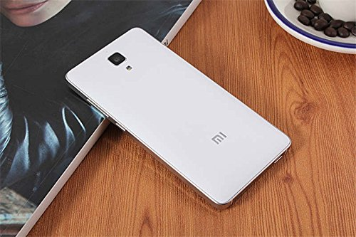Luxury matte battery cover case with Mi Logo for Xiaomi Mi4 M4 with Suction Cup to remove the back cover - White
