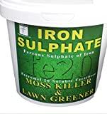 Iron Sulphate 1 KG Tub PURE LAWN TONIC- Sulphate of Iron Lawn Conditioner and Moss Killer. Dry Powder easily soluble in water