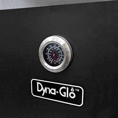 Dyna-Glo DGO1176BDC-D Black Steel Double Door Vertical Charcoal Offset BBQ Smoker