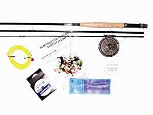 Beginners fly fishing kit with rod sports for Beginner fly fishing kit