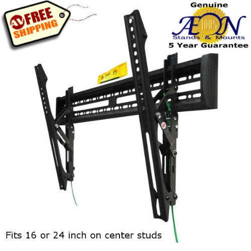Advanced Slim Tilting Tv Wall Mount For 32 To 60 Inch Led, Plasma, Lcd, And Televisions