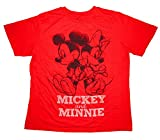 Women's PLUS Size Disney Mickey & Minnie Mouse Sketch T-shirt Ruby Red